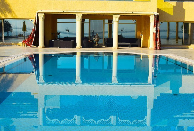 Residential Outdoor Skimmer Pool 1 - Atlasblue Kuwait