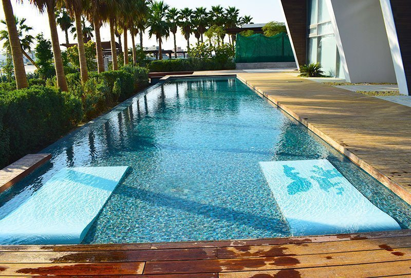 Residential Outdoor Skimmer Pool 19 - Atlasblue Kuwait