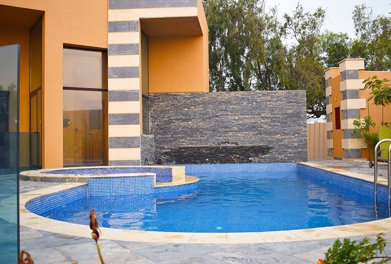 Residential Outdoor Skimmer Pool 20 - Atlasblue Kuwait
