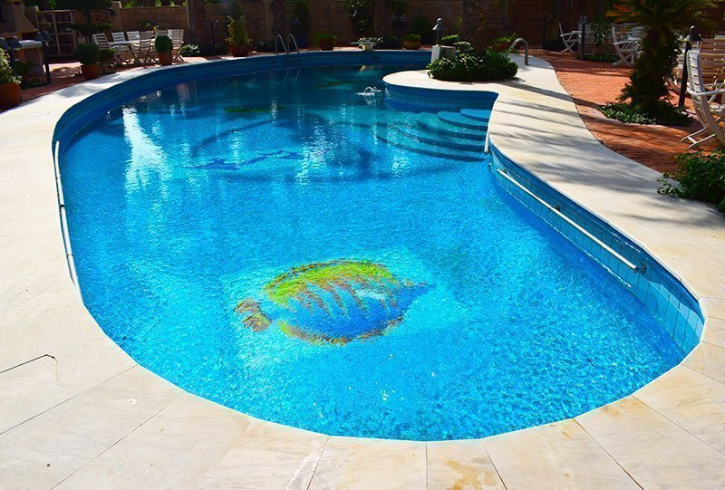 Residential Outdoor Skimmer Pool 34 - Atlasblue Kuwait