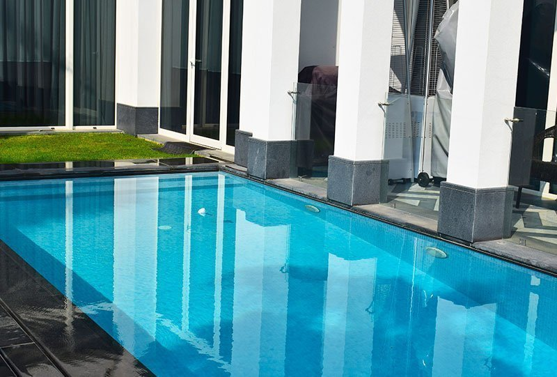 Residential Outdoor Skimmer Pool 38 - Atlasblue Kuwait