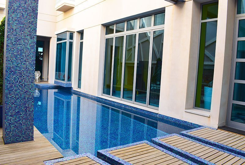 Residential Outdoor Skimmer Pool 42 - Atlasblue Kuwait