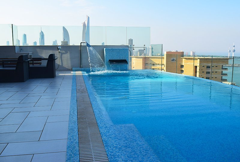 atlasblue commercial outdoor infinity Pool 1 - Kuwait